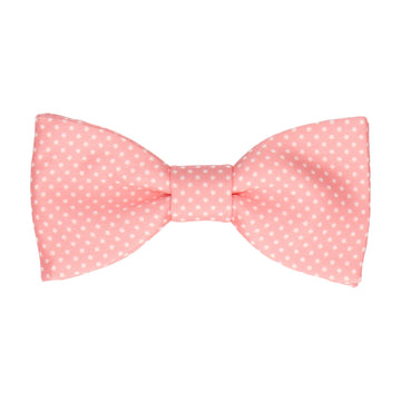 Soft Coral Pin Dots Bow Tie
