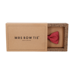 Pin Dots Burgundy Dark Red Bow Tie