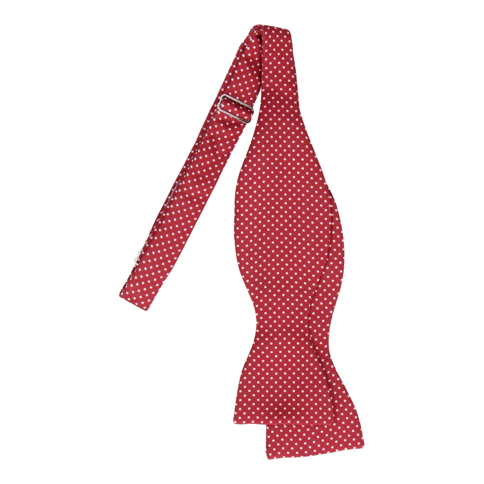 Burgundy Red Pin Dots Bow Tie