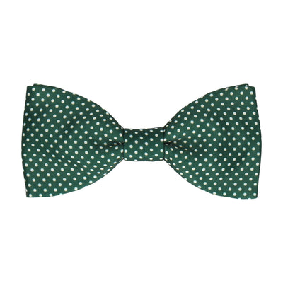 Pin Dots in Dark Green Bow Tie
