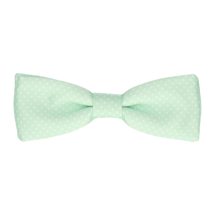 Pin Dots in Mint Bow Tie -Batwing-Pre-Tie- - bowties by Mrs Bow Tie