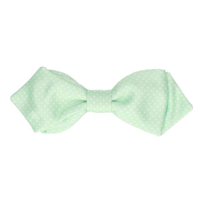Pin Dots in Mint Bow Tie -Diamond Point-Pre-Tie- - bowties by Mrs Bow Tie