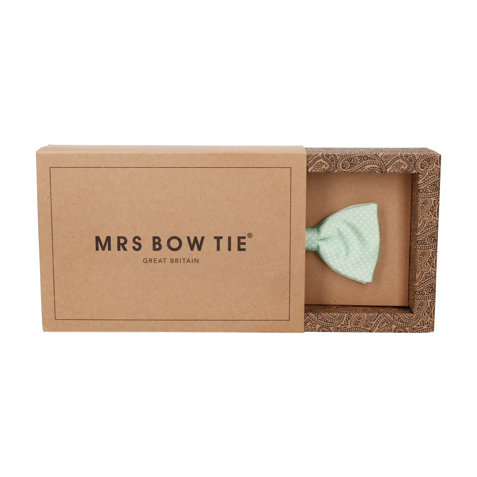 Mint Green Pin Dots Bow Tie