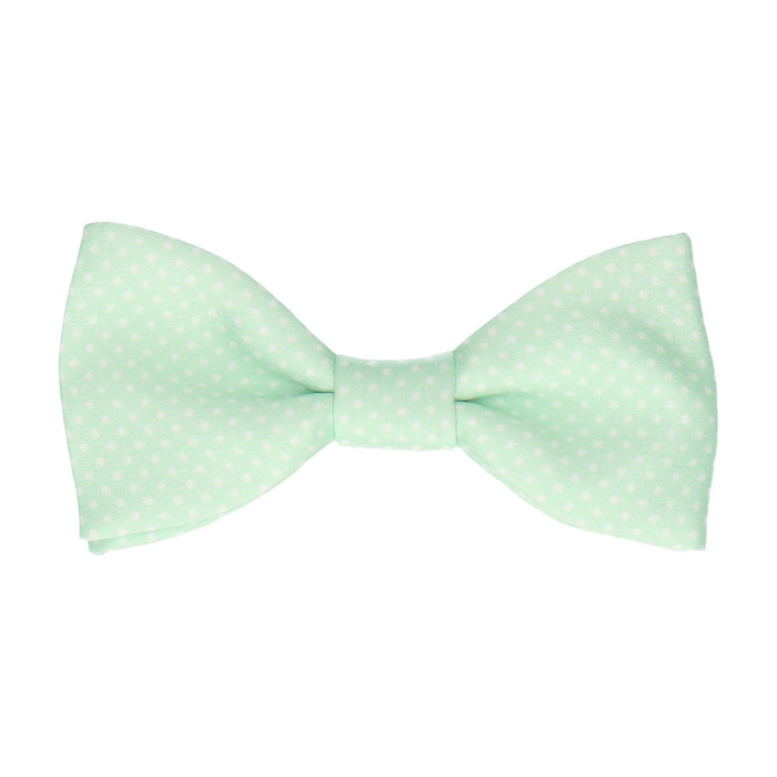 Pin Dots in Mint Bow Tie -Standard-Pre-Tie- - bowties by Mrs Bow Tie