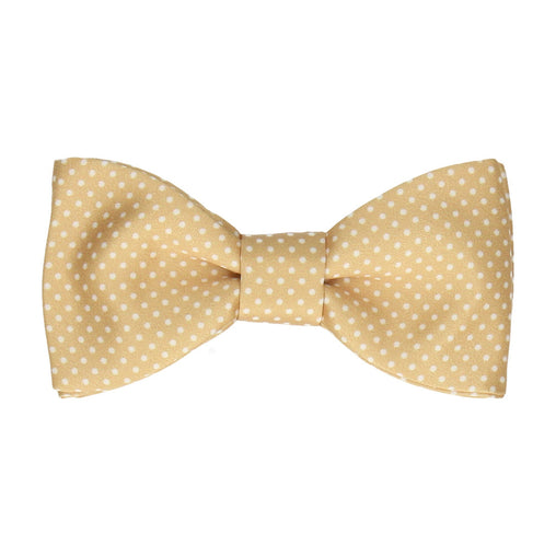 Pin Dots in Pure Gold Bow Tie