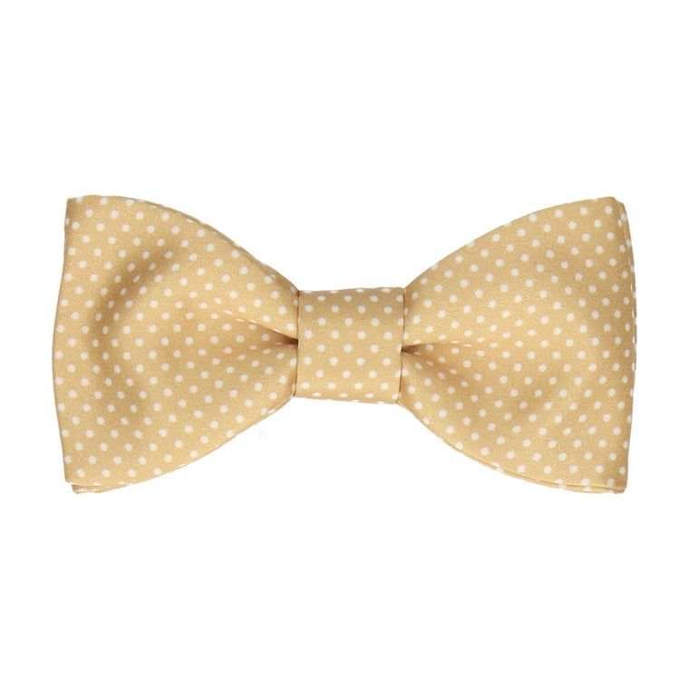 Pure Gold Pin Dots Bow Tie