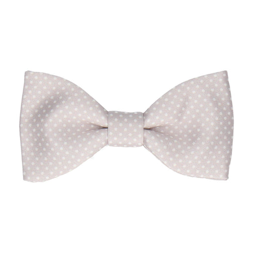 Pin Dots in Pure Silver Bow Tie
