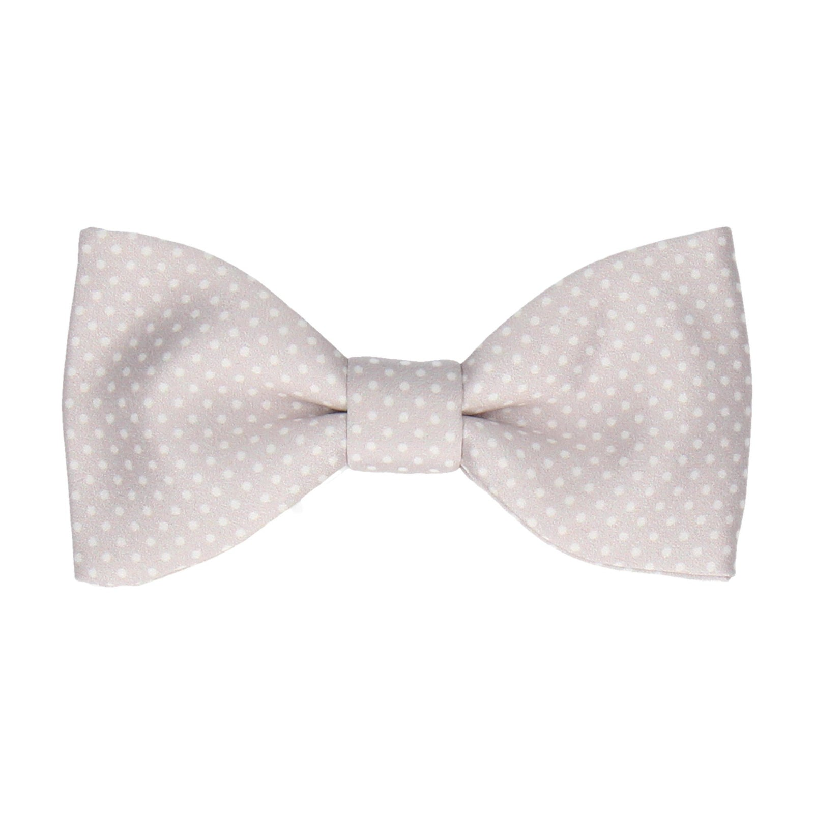 Pure Silver Pin Dots Bow Tie