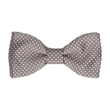 Thunder Grey Pin Dots Bow Tie