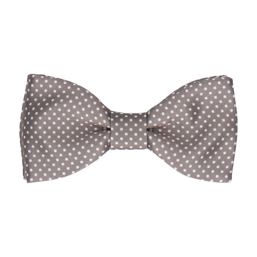 Pin Dots in Thunder Grey Bow Tie