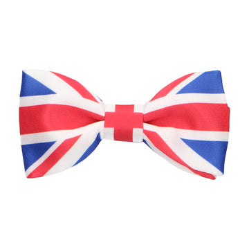 British flag (union jack) bow tie, for the United Kingdom (UK) Great Britain