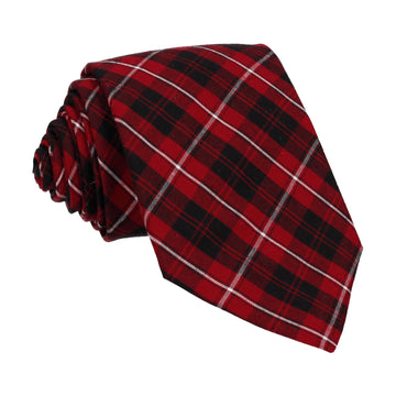 Red 'Cameron of Lockeil' Tartan Tie
