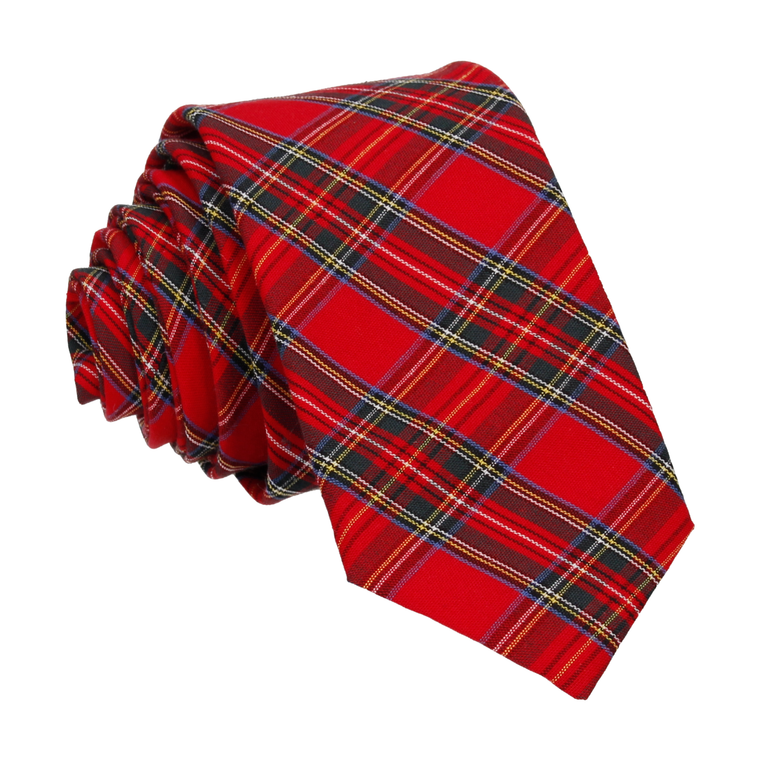 PACK OF 100 MIXED COLOURS TARTAN BOWS