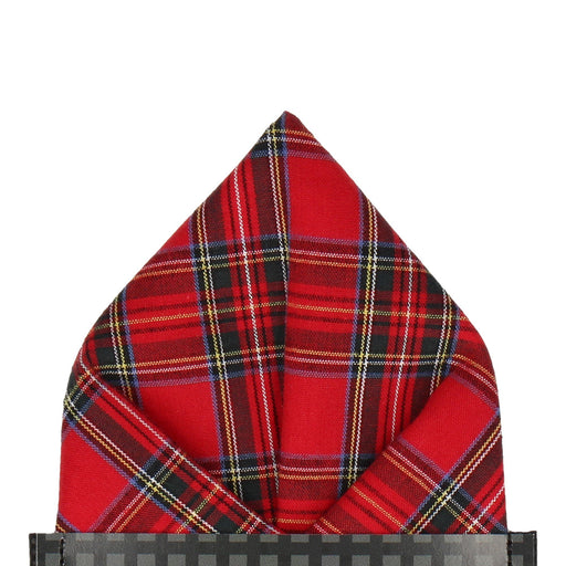 Tartan in Royal Stewart Pocket Square - - Pocket Squares and Handkerchiefs by Mrs Bow Tie