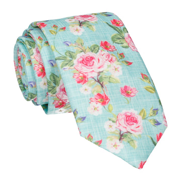 Sea Green Floral Chintz Tie