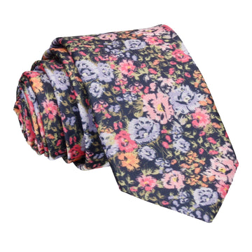 Colourful Busy Floral Tie