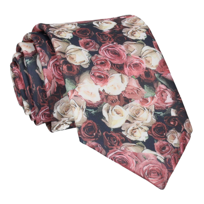 Pink Blossom Photographic Roses Tie
