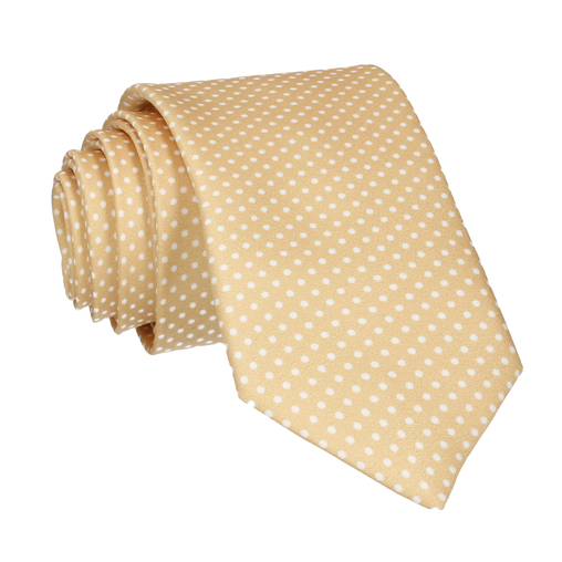 Pin Dots in Pure Gold Tie