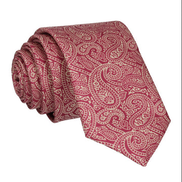 Ellington Burgundy Paisley Tie