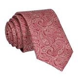 Red & Gold Paisley Print Tie