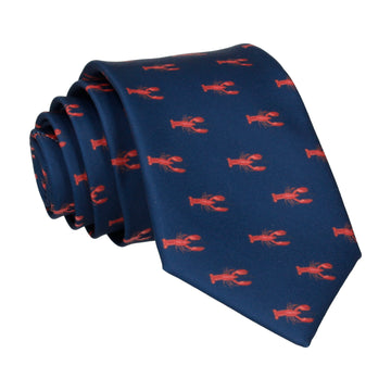 Nautical Navy Blue Lobsters Tie