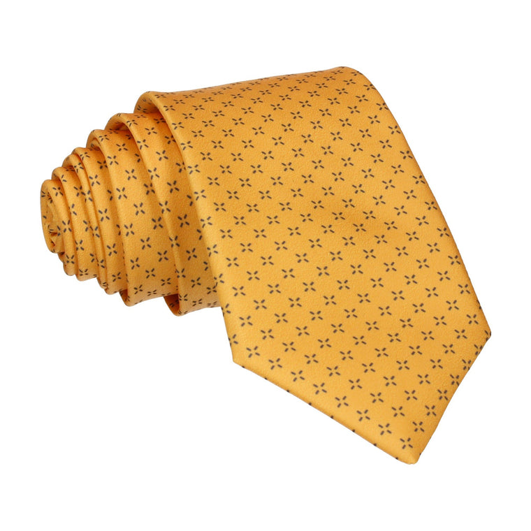 Yellow Cross Pattern Tie