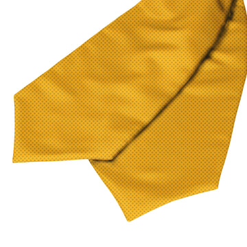 Yellow Cross Pattern Ascot Cravat