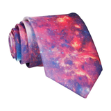 Space Galaxy Purple Nebula Tie