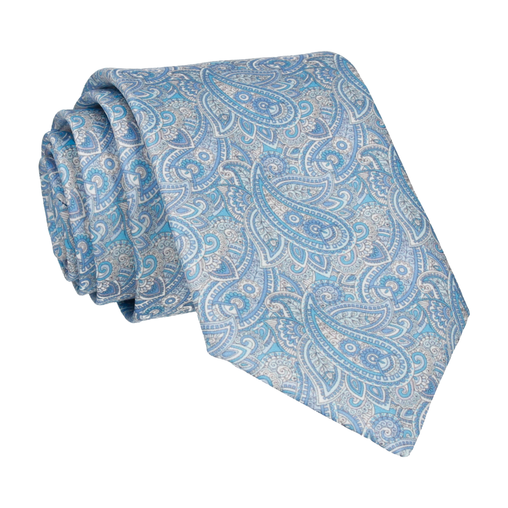 Aberglasney Blue & Lemon Paisley Tie