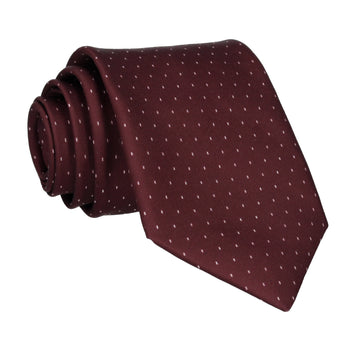 Burgundy Red Simple Fleck Tie