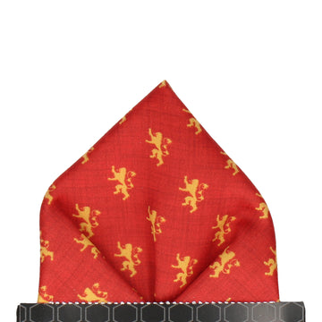 Lion Sigil House Lannister Pocket Square