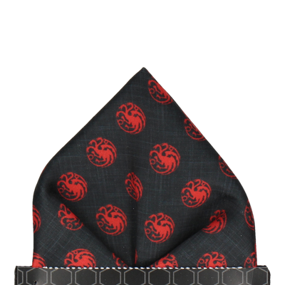 Dragon Sigil House Targaryen Pocket Square
