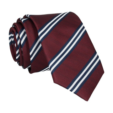 Bravo in Burgundy & Navy Blue Tie