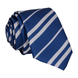 Navy Blue & Silver Stripe House Tie