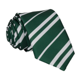 Green & Silver Stripe House Tie