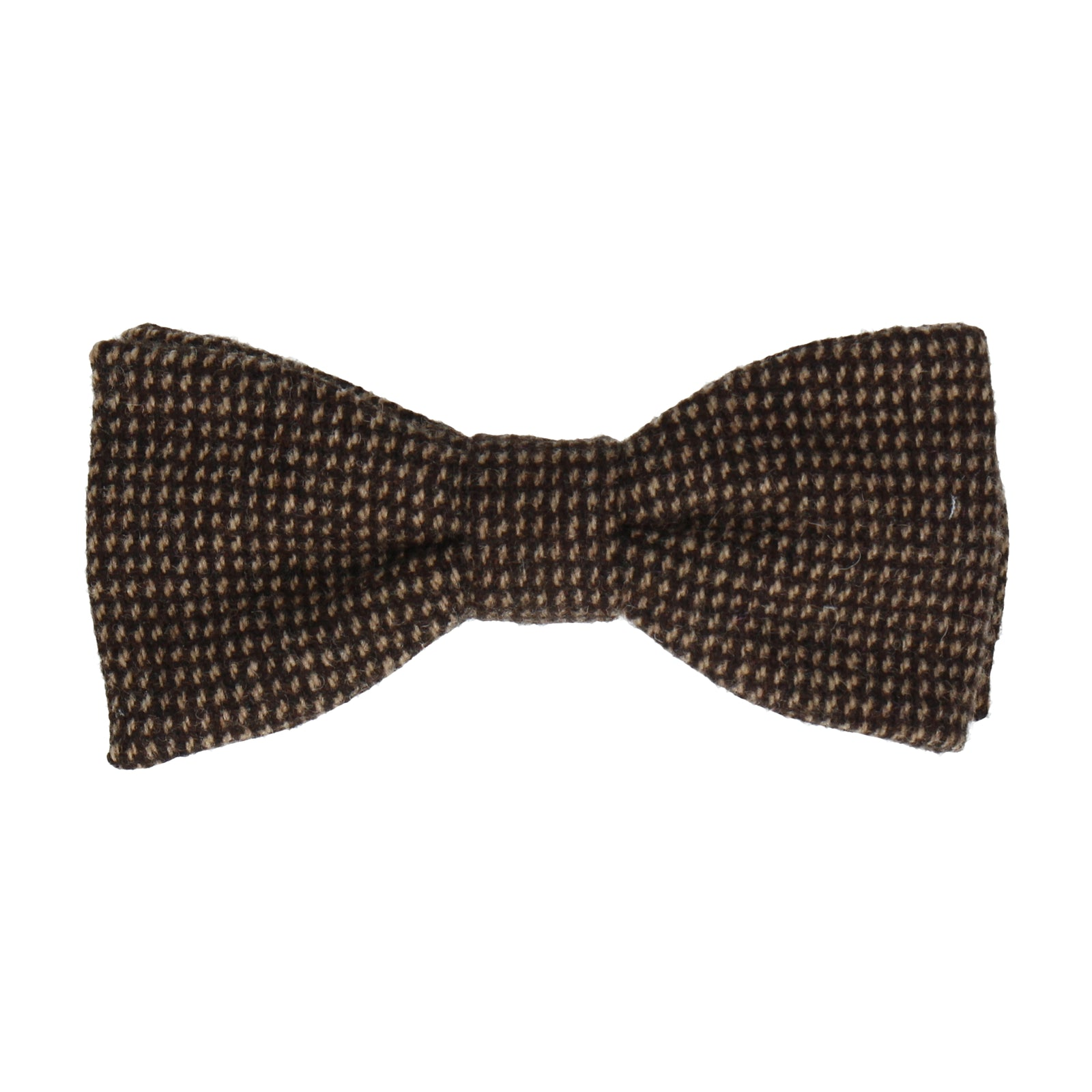 Brown Textured Wool Bow Tie