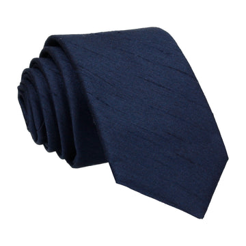 Faux Silk Navy Blue Tie