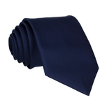 Midnight Blue Solid Plain Satin Tie