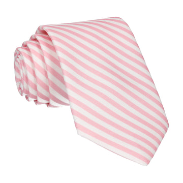 Diagonal Stripes in Pink Tie