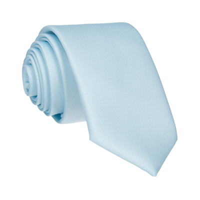 Plain Solid Pale Blue Tie
