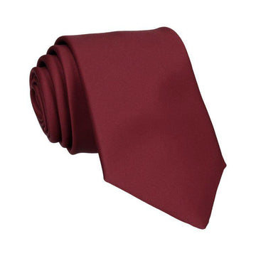 Plain Solid Burgundy Red Tie
