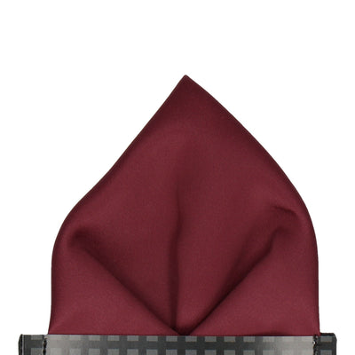 Plain Solid Burgundy Red Pocket Square