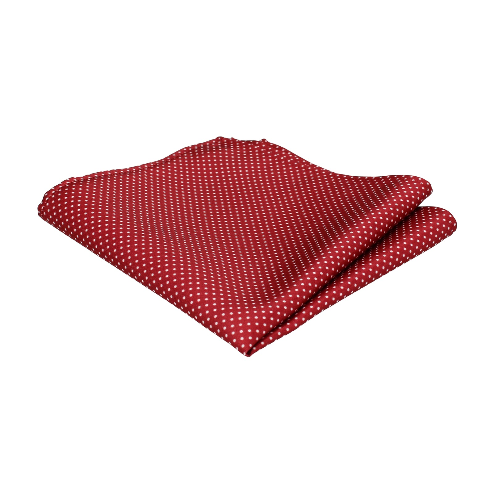 Pin Dots in Burgundy Pocket Square