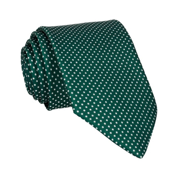 Dark Green Pin Dots Tie