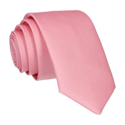 Plain Solid Blush Pink Tie