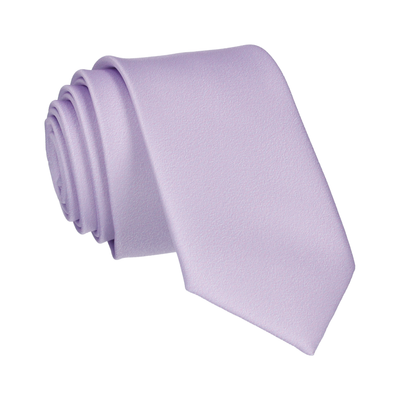 Plain Solid Lilac Purple Tie
