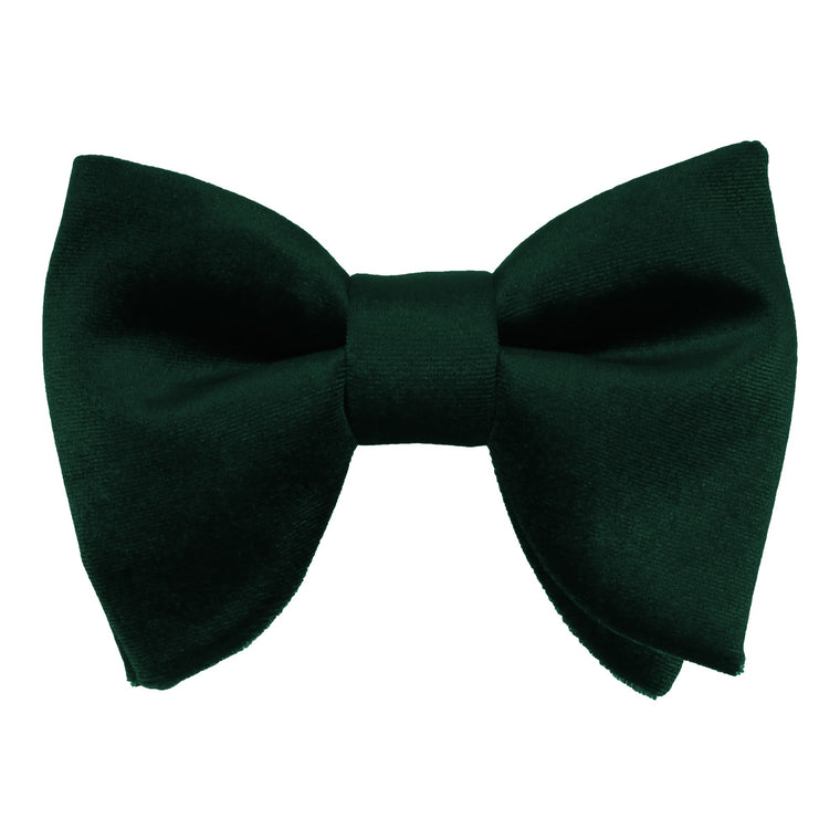 Forest Green Velvet Large Evening Bow Tie