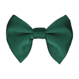 Plain Satin Bottle Green Large Evening Bow Tie