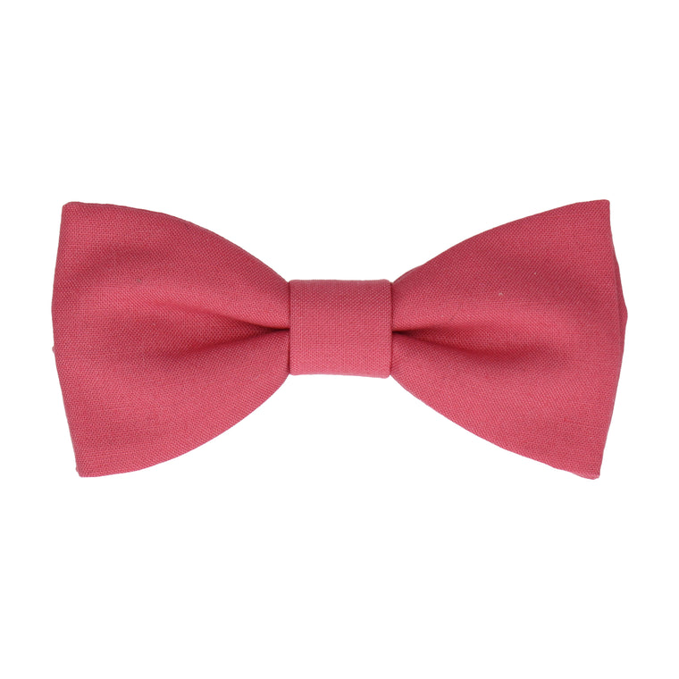 Cotton Deep Rose Pink Bow Tie