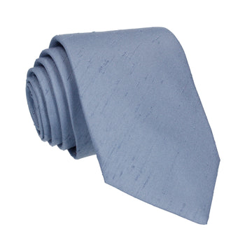 Faux Silk in Steel Blue Tie